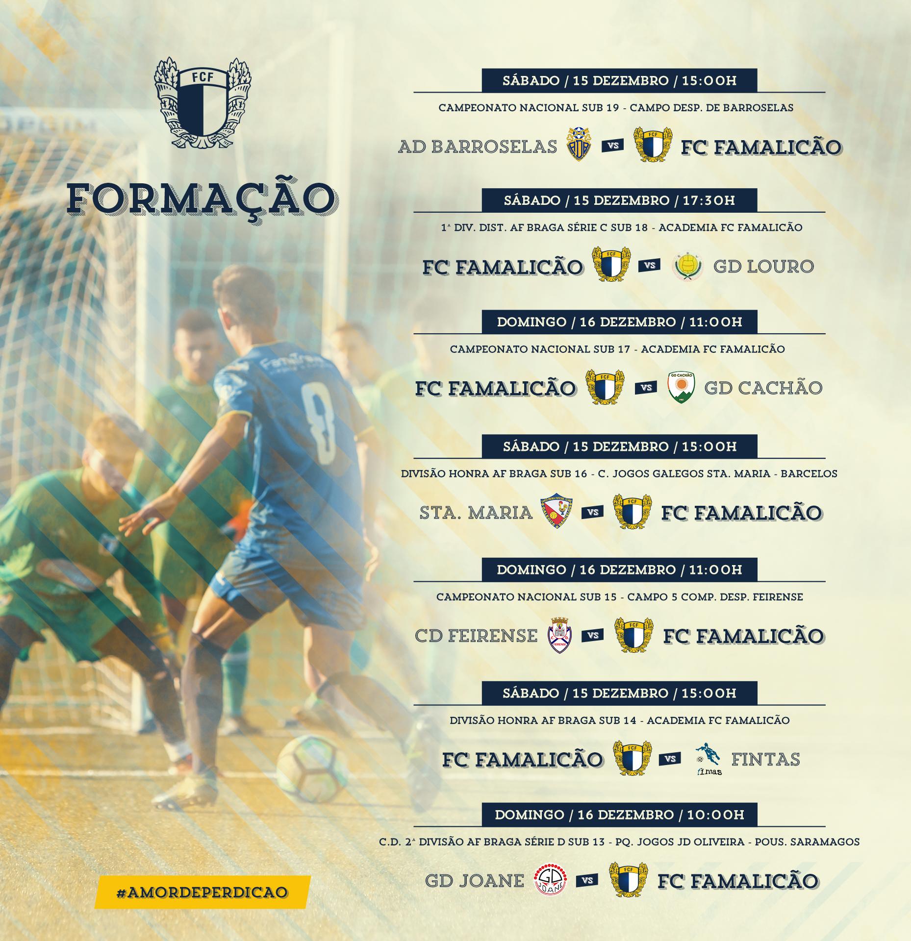 CALENDÁRIO DA FORMAÇÃO – 15 E 16 DE DEZEMBRO – FC Famalicão 02adc8eeb3364