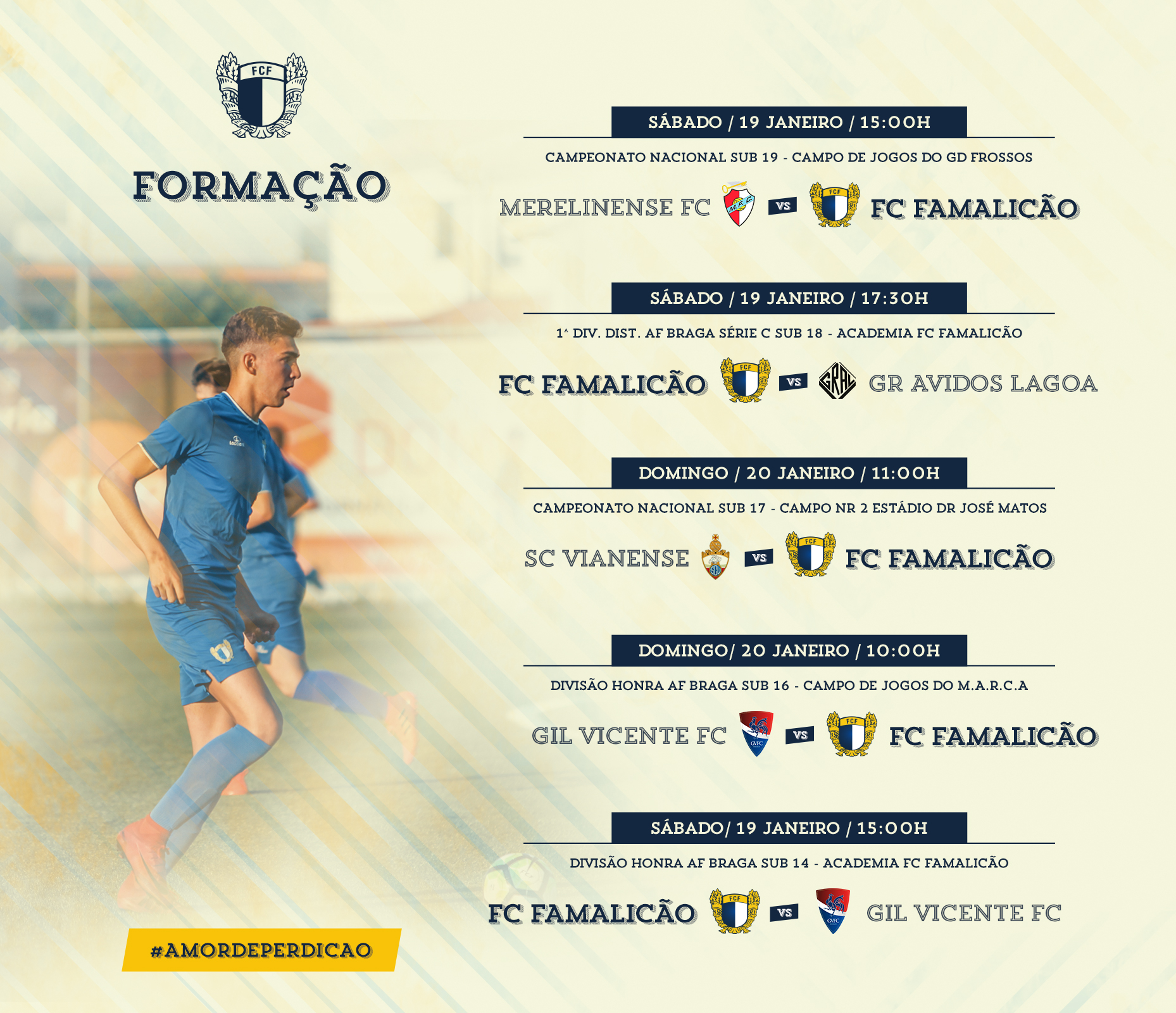 Os vários escalões de formação do Futebol Clube de Famalicão continuam a  sua caminhada nos respetivos campeonatos 99ac515d17c97